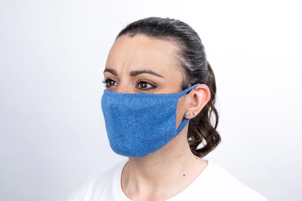 mascherina indossata